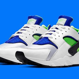 NIKE - Air Huarache OG - White/Scream Green/Royal Blue/Black