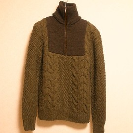 Maison Martin Margiela - Cable Knit Half Zip Sweater (Line⑩/11aw)
