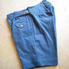 TATAMIZE - CORDUROY WORK SHORTS Blue