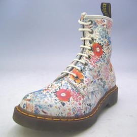 Dr.Martens - 2007 flower printed 8 hole boots