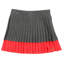 Little Marc Jacobs - Grey and coral pleated dress