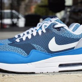 Nike - NIKE AIR MAX 1 JACQUARD PHOTO BLUE/WHITE-WOLF GREY-MIDNIGHT NAVY