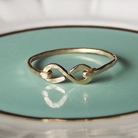 BellatrinaJewelry - Hammered Gold Filled or Sterling Infinity