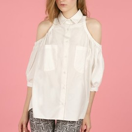 CHLOE SEVIGNY FOR OPENING CEREMONY - CUT-OUT BOXY DRESS SHIRT