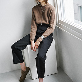 clane - LAYER SLEEVE KNIT TOPS