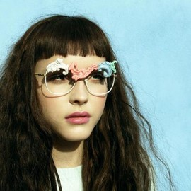 'DESIRE 2' VINTAGE SUNGLASSES WITH PORCELAIN TIPS