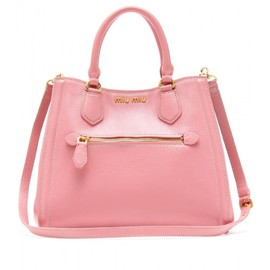 miu miu - STRUCTURED LEATHER TOTE