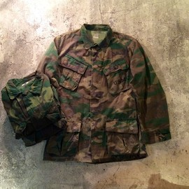 U.S.Military - ERDL Leaf Fatigue Jacket/1960's Vintage