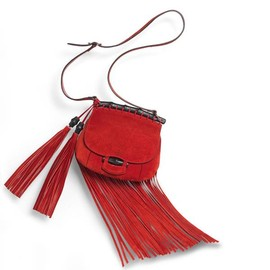 Gucci - Gucci nouveau fringe suede shoulder bag