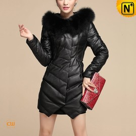 CWMALLS - Ladies Down Coat with Fox Fur Collar CW630311