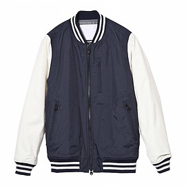 White Mountaineering - white_mountaineering_nylon_varsity_jacket