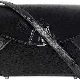 Alexander Wang - Alexander Wang Black Trifold Textured Patent Leather Shoulder Bag in Black - Lyst
