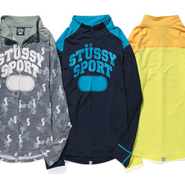 STUSSY SPORT by ONEHUNDRED ATHLETIC - STUSSY SPORTS WORKOUT PULL OVER L/S TOP