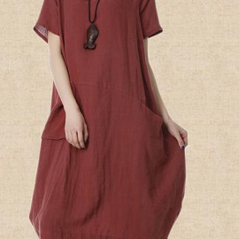 Dress It Up - linen Maxi Dress women fashion Long dress