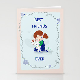 Laura Gomez - Best Friends Ever Stationery Cards