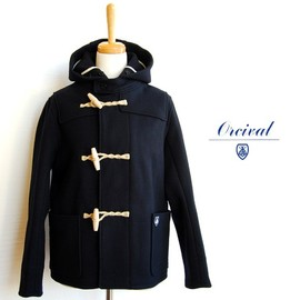 ORCIVAL - Melton Short Duffel Coat NAVY
