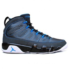nike - NIKE AIR JORDAN IX BLACK/PHOTO BLUE-WHITE