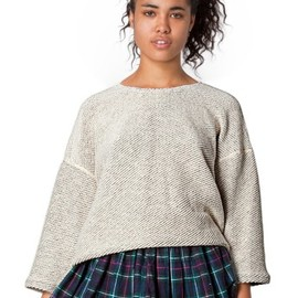 American Apparel - reversible easy sweater