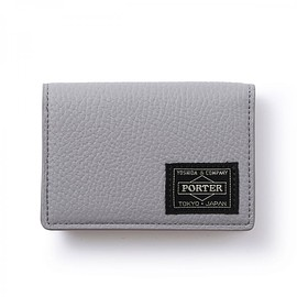 "HEAD PORTER - ""LUCCA"" CARD CASE GREY"