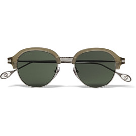 GUCCI - Round-Frame Metal and Acetate Sunglasses