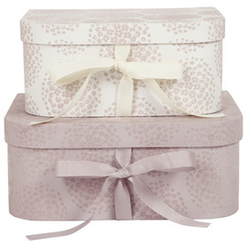 Laura Ashley - Coco Amethyst Flocked Boxes