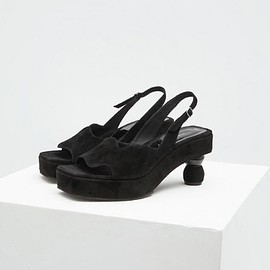 Dries Van Noten サンダル・ミュール ◆SALE! DriesVanNoten ドリス Slingback サンダル Black Suede(4)
