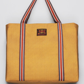 bluespot - 【KRAVITZ】Herringbone Pattern Tote Bag(MUSTARD)