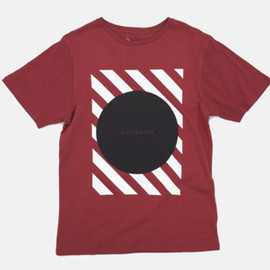 Saturdays - Circle Stripe Square T-Shirt