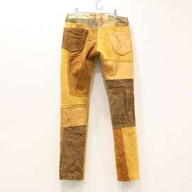 children of the discordance - Children of the discordance | チルドレンオブザディスコダンス VINTAGE PATCH LEATHER PANTS(BROWN)通販サイト - 京都取扱い店舗 ATTE