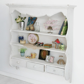 Kino - Vintage White Wall Shelf