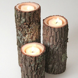Tree Branch Candle Holders- Rustic Wood Candle Holders Tree Branch Candle Sticks