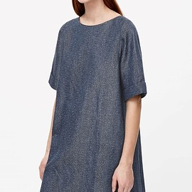 cos - linen mix dress