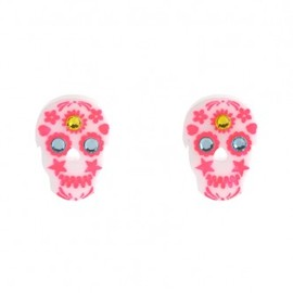 Tatty Devine - Sugar Skull Earrings - white