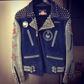 blackmeans - studded rider jacket