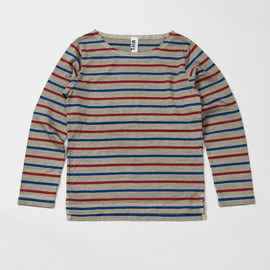 MHL. - NATURAL DYE STRIPE JERSEY BASQUE SHIRT
