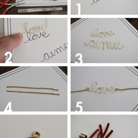 Wire Love / Name Bracelet
