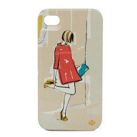 kate spade NEW YORK - RESIN IPHONE CASE GARANCE GIRL