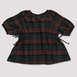 caramel baby&child - Ashdown Baby Dress, Rust Check Front