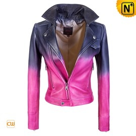 CWMALLS - Ladies Cropped Leather Jacket CW608136 - cwmalls.com