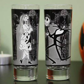 disney - Nightmare Before Christmas Jack & Sally Shot Glasses