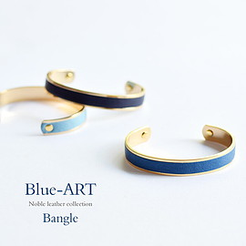 HIRAMEKI x SUKUMO Leather - Blue-Art バングル