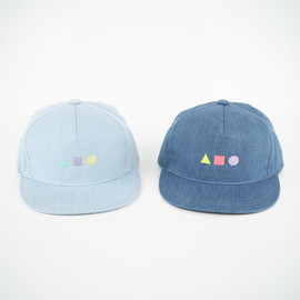 triangle denim cap