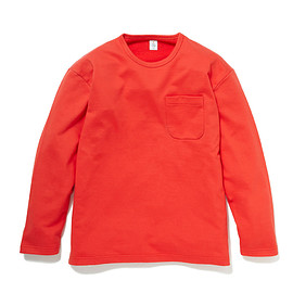 HEAD PORTER PLUS - POCKET L/S TEE ORANGE