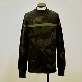 sacai - CAMOUFLAGE PULLOVER 17-01396M