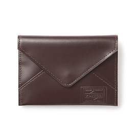 "HEAD PORTER - ""VIANA"" CARD CASE BROWN"