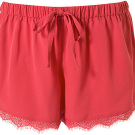 TOPSHOP/TOPMAN - Lace Runner Shorts