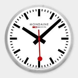 Swiss Railway Clock, Red