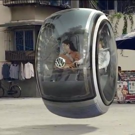 Volkswagen's concept car that travels by using magnetic force to float.