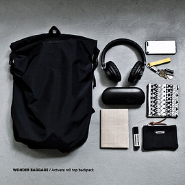 WONDER BAGGAGE - WONDER BAGGAGE ワンダーバゲージ Activate roll top backpack アクティベート ロールトップ バックパック