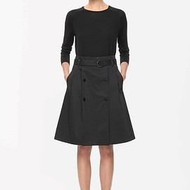 COS - BUTTON-FRONT SKIRT